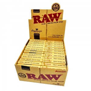 Bibułka RAW CONNOISSEUR KS slim + Tips BOX 24 szt