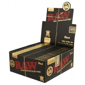 Bibułka RAW BLACK KS Slim BOX 50 szt