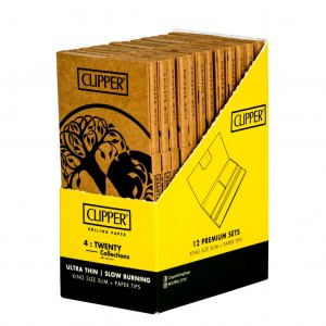 Bibułka Clipper Tree of Life KS Slim+Tips BOX 12op