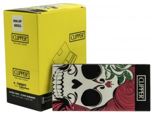 Bibułka CLIPPER Pin Up KS Slim + Tips  BOX 12 op