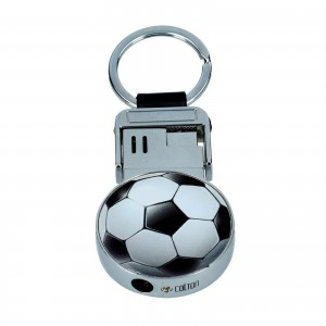 Zapalniczka piezo metalowa chrom DOMING football
