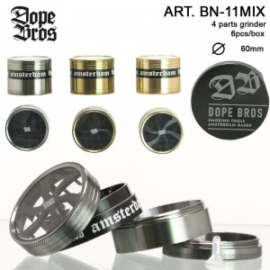 Młynek metalowy DOPE BROS 3 COLOURS 60 mm srebrny
